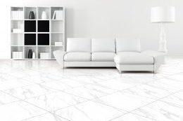 black and white minimalist living room - rendering